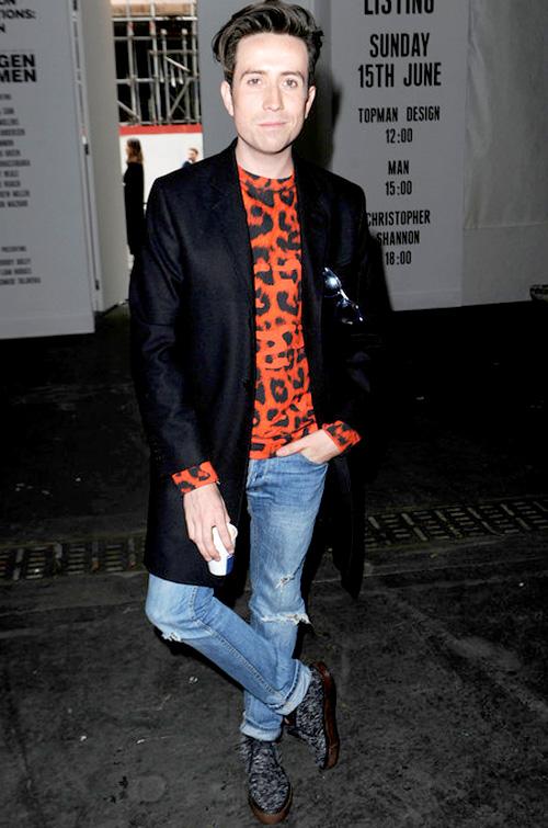 ニック・グリムショー(Nick Grimshaw):ケイティアーリー(Katie Eary)ディオール オム(Dior Homme)