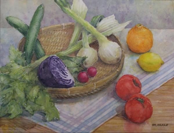デコポンと野菜
