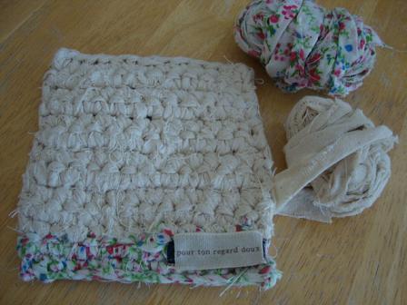 裂き編みポットマット