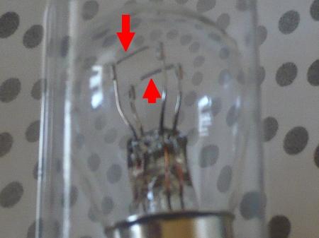 テールランプとブレーキランプ電球