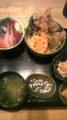 ランチ ミニ海鮮、天丼