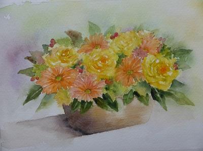 仕事納めの日の花