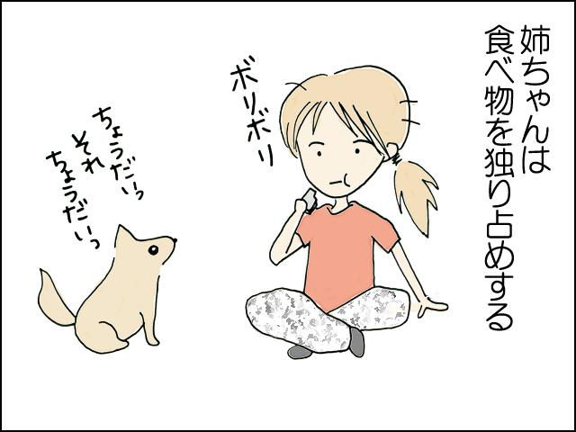 姉ちゃんは食べ物を独り占めする