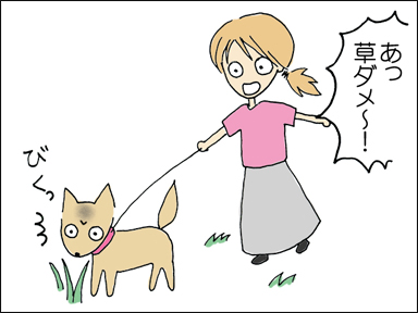 草だめーーー!