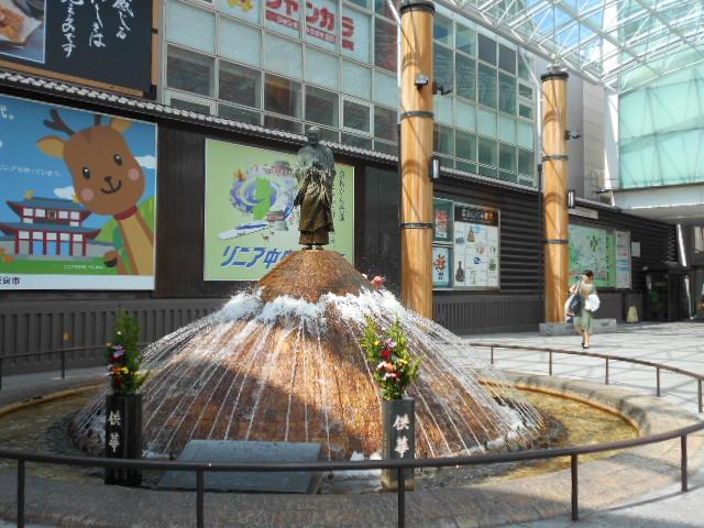 奈良駅前「行基像」