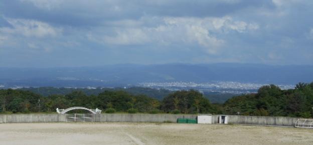 山麓公園から奈良市を