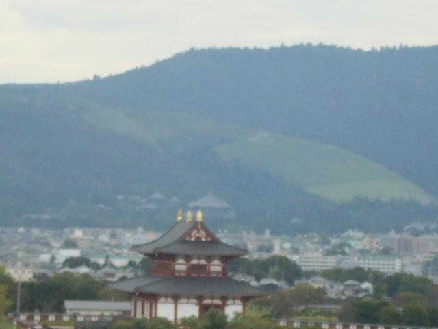 東大寺と若草山