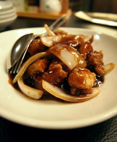 共栄飯店 渥美赤鶏の黒酢炒め