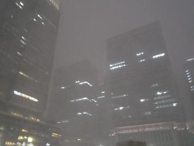 吹雪 東京駅