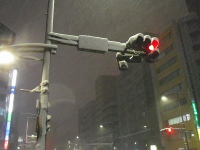 淡路町 雪 平成26年2月8日 信号機