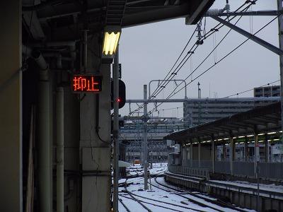 上野駅 宇都宮線 雪 2014年2月15日 抑止