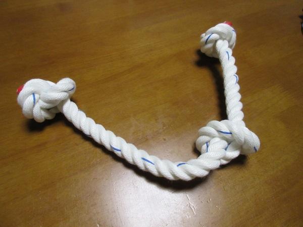 ロープ太いのでけた