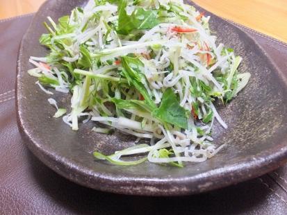 大根水菜雑魚のサラダ