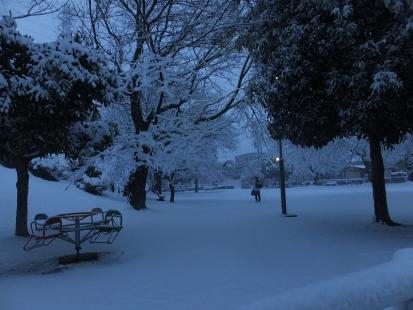 雪の中の少女