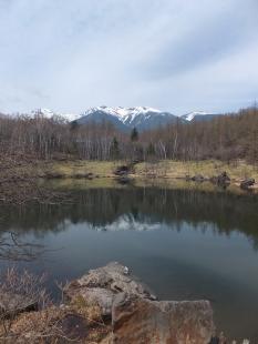 美鈴池から八ヶ岳をのぞむ