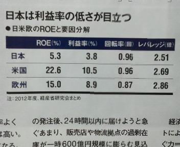 日本は利益率の低さが目立つ