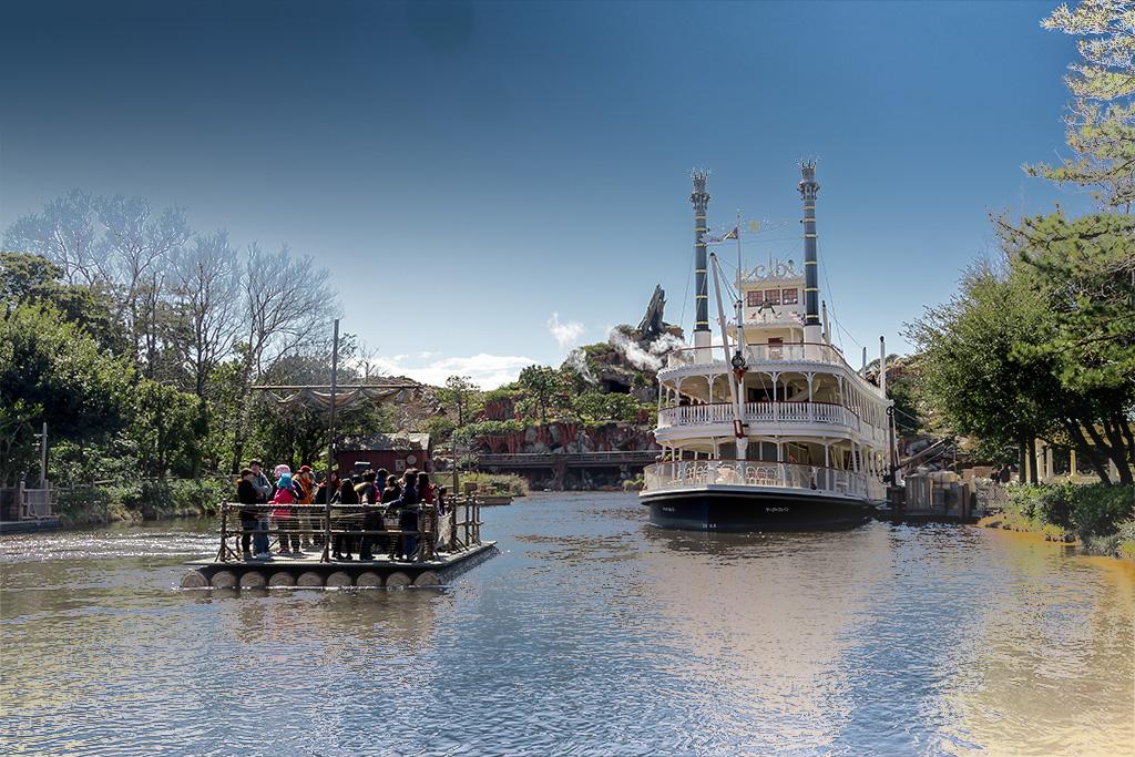 古き良き時代(蒸気船マークトウェイン号とトムソーヤ島いかだ)