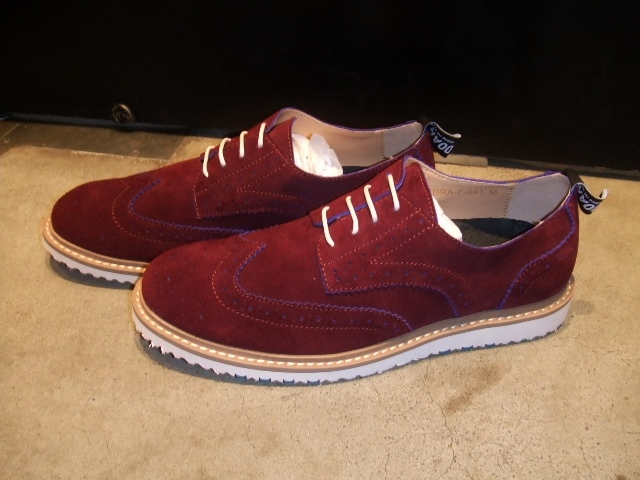 DOARAT SUEDE WING TIPPED SHOES BURGUNDY1