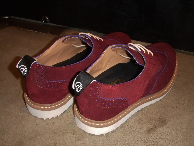 DOARAT SUEDE WING TIPPED SHOES BURGUNDY2