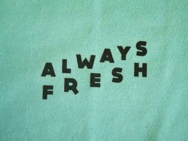 MDY ALWAYS FRESH SS TEE AQUA FT