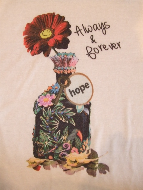 rehacer FLOWER BOTTLE SS TEE IVORY FT