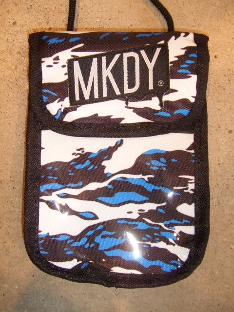 MDY NYLON MINI POUCH BLUE1