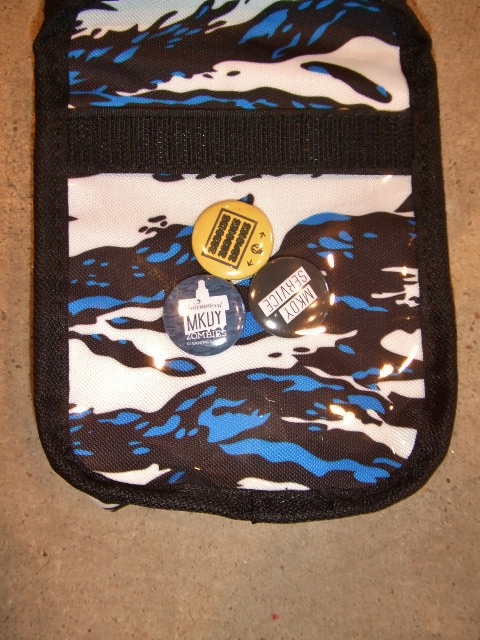 MDY NYLON MINI POUCH BLUE3