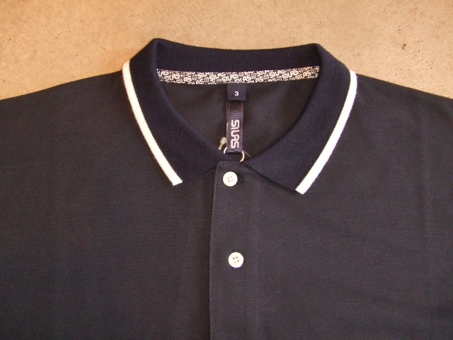 SILAS TWO TONE POLO NAVY FT1