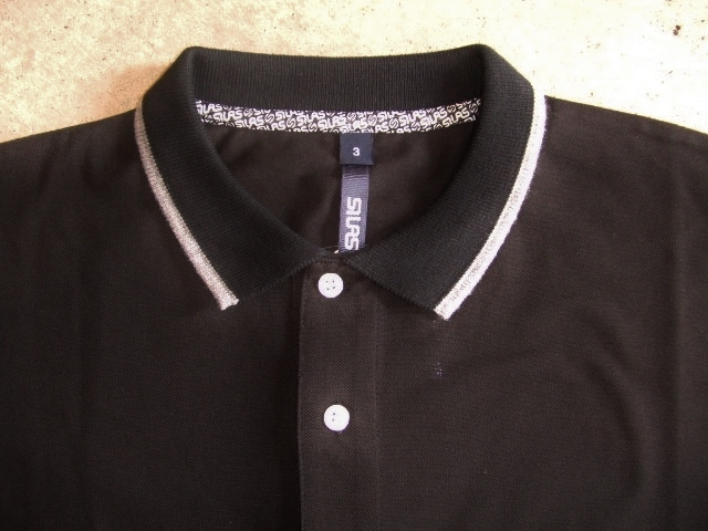 SILAS TWO TONE POLO BLACK FT1