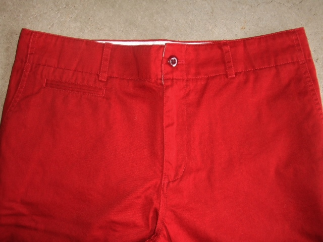 SILAS ARMAN CHINO SHORT RED FT2