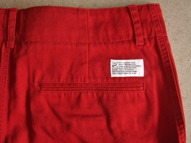 SILAS ARMAN CHINO SHORT RED BKPT1