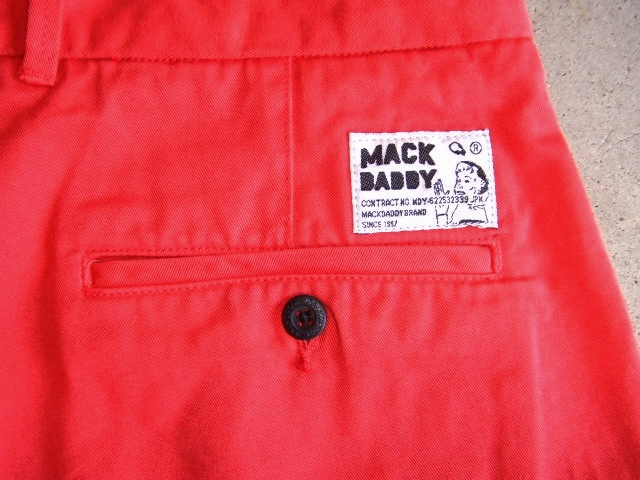 MDY CHINO SHORTS RED BK2