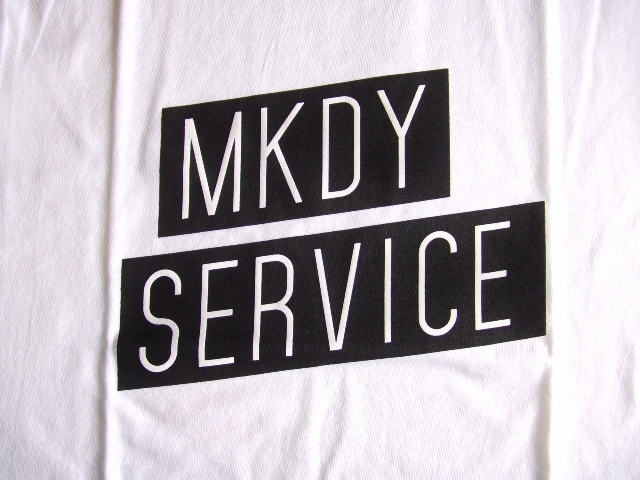 MDY MKDY SERVICE SS TEE WHITE FT