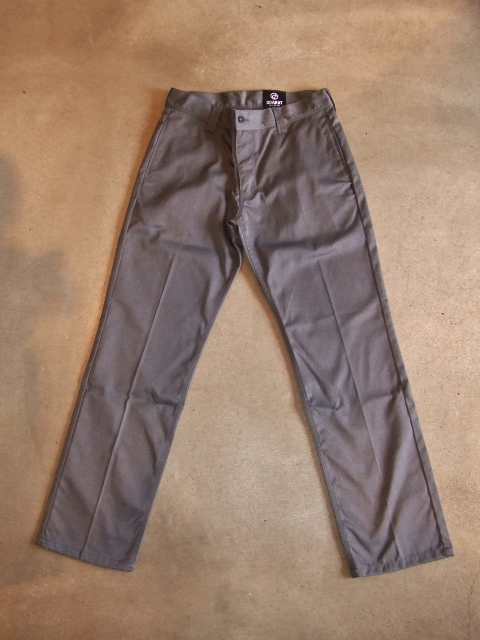DOARAT HEATHERED CHINO PANTS GRAY FT1