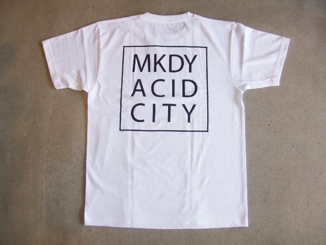 MDY ACID CITY SS TEE WHITE BK1