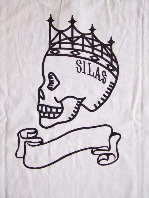 SILAS FLAG SS TEE WHITE BK2