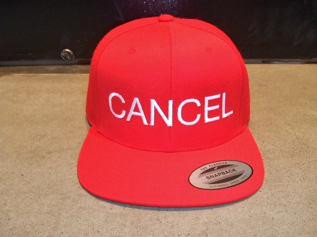 mdy CANCEL SNAP BACK CAP RED FT1