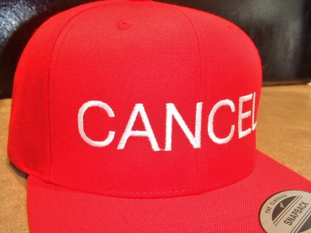 mdy CANCEL SNAP BACK CAP RED FT2