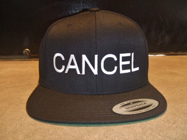 mdy CANCEL SNAP BACK CAP BLACK FT1