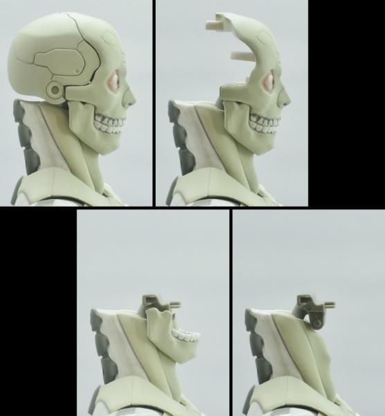 東亜重工 合成人間:頭部の分解