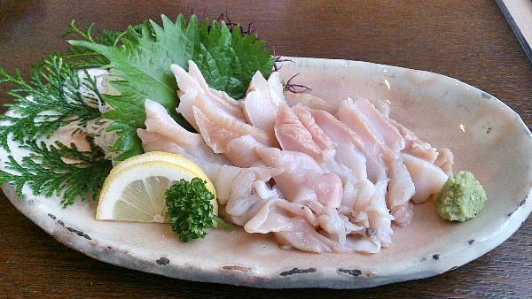バイ貝のお刺身