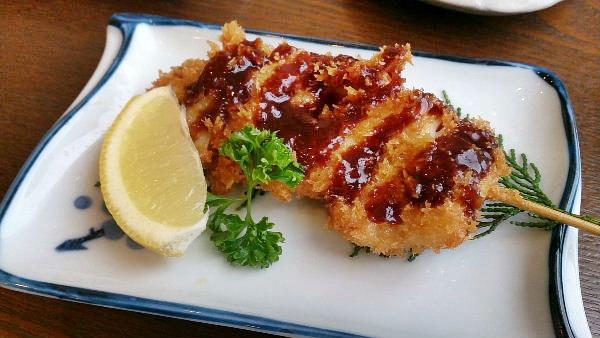 バイ貝の串フライ