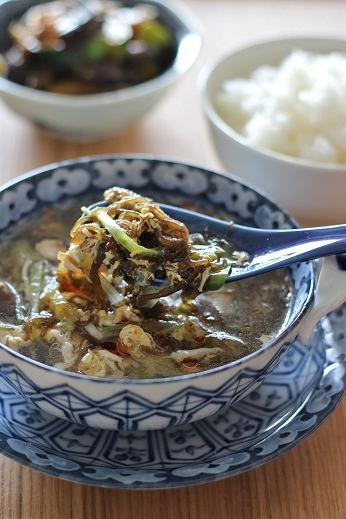 もずくの中華スープ1