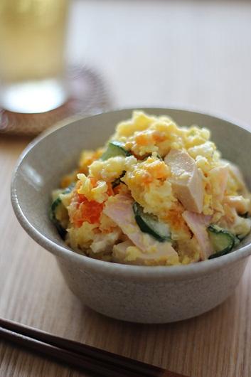 味噌卵のポテサラ