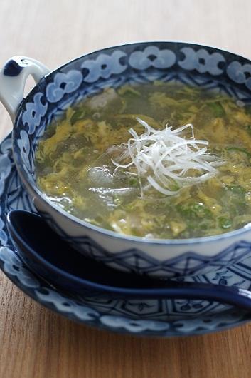 冬瓜とおくらの卵スープ1