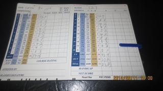 6今日のゴルフ