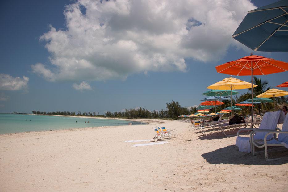 beach in castaway cay
