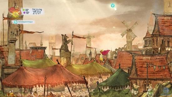 PS4 PS3 CHILDofLIGHT チャイルドオブライト プレイ日記 オーロラ ノラ フィン ルベラ RPG
