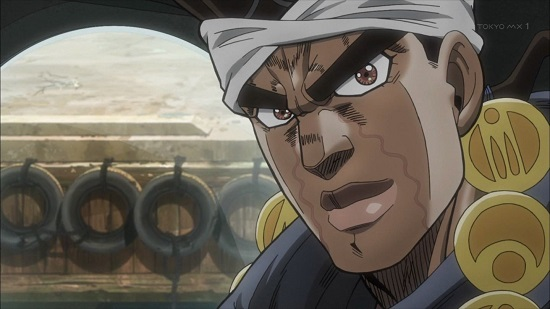 アニメ ジョジョの奇妙な冒険 スターダストクルセイダーズ 皇帝(エンペラー)と吊られた男(ハングドマン)