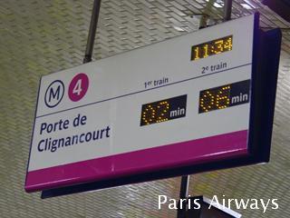 パリ メトロ 接近表示機